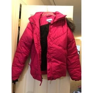 Columbia Winter Jacket with Faux Fur on Hood
